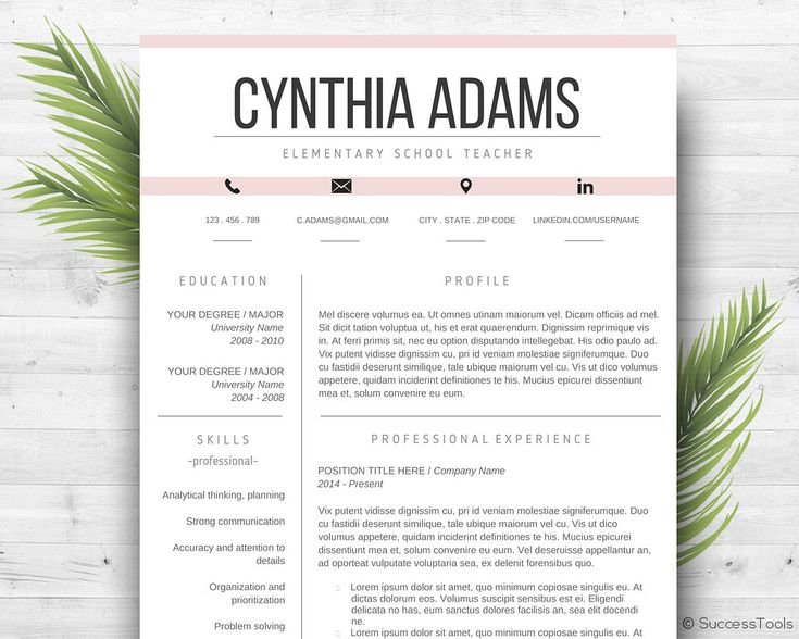 25 best ideas about Teacher resume template – Teaching Resume Examples