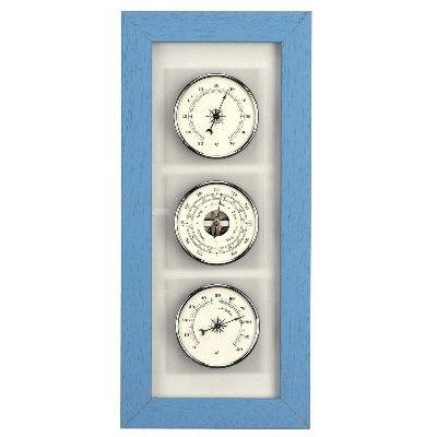 AN 28.3121.E - Termometro, Barometro Igrometro in Legno - Inglese
