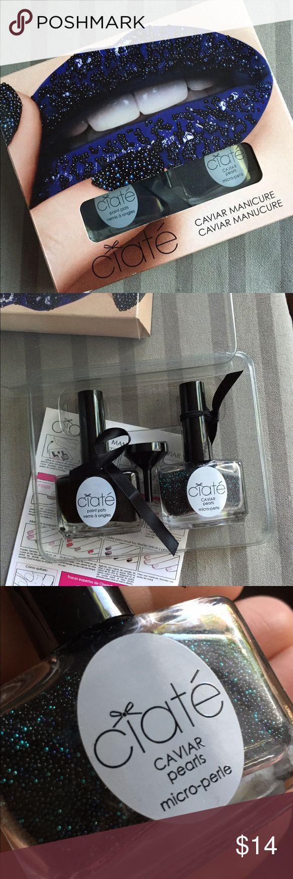 Ciate Nail Caviar manicure Ciate Nail Caviar manicure lightly used! Ciate Makeup