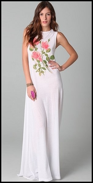 Robe-longue-blanche-avec-roses-Wildfox---Shopbop.jpgBelle De, Wildfox Couture, Couture Thestylecurecom, Maxis Dresses, France Maxis, By Day, Tout Court, Belle Tout, Dresses Wildfox