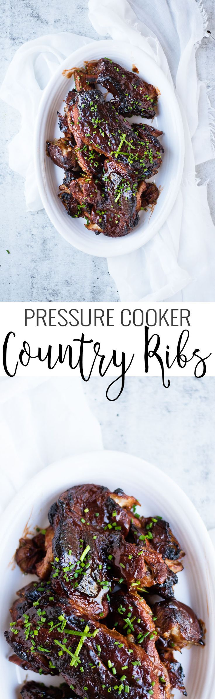 Pressure Cooker Country Ribs | pressure cooker recipes | pressure cooker rib recipe | how to make homemade ribs | how to cook ribs in a pressure cooker | summer barbecue recipes | how to cook tender ribs | how to cook country ribs | homemade country ribs