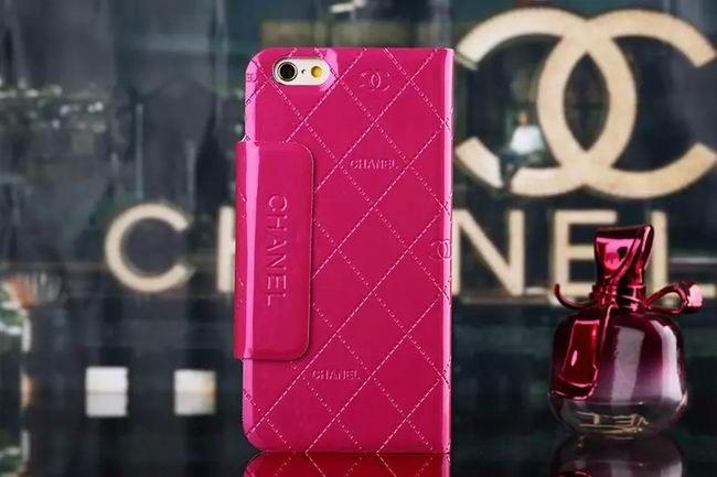 Chanel iphone 6 Case Design Designer Leather Slim Wallet rose red