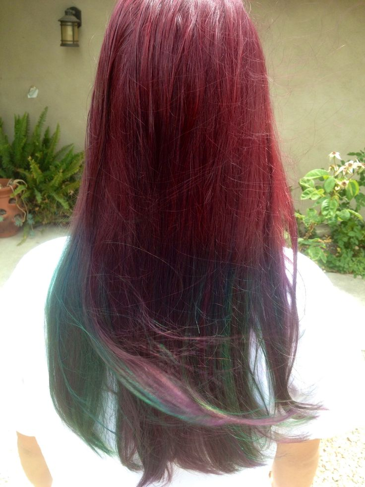 Ombr 233 Hair Manic Panic On Natural Light Brown Hair