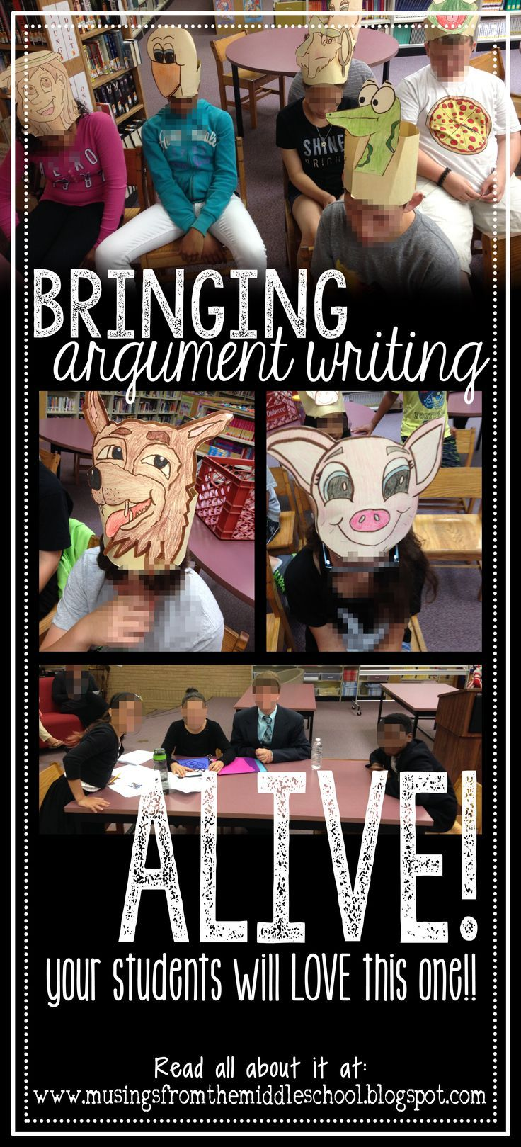 Your students will LOVE this spin on argument writing!
