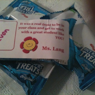 student appreciation gift last day in my 2nd grade practicum class it was a real treat to be in your class and work wit cutesy little gift ideas