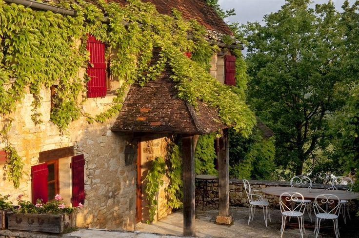 Daglan cottage rental - The terrace
