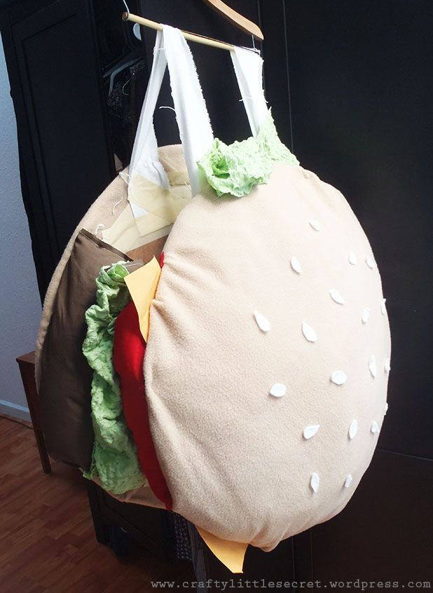 DIY hamburger costume