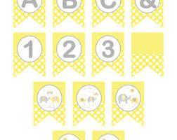 yellow and grey baby shower free printables ile ilgili görsel sonucu
