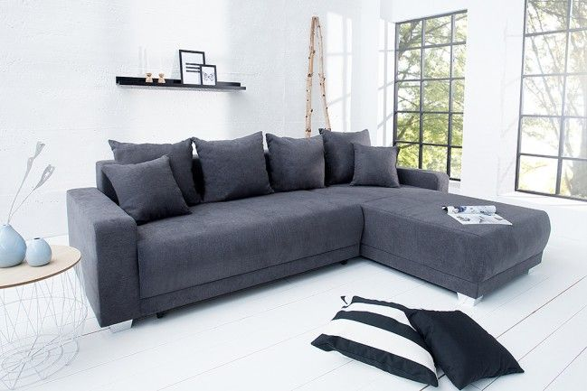 Design ecksofa  Design Ecksofa COSI mit Schlaffunktion grau Original CANDY ...