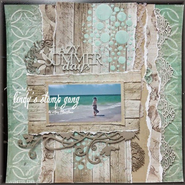 """Lazy Summer Days"" Layout Tutorial by Amy Voorthuis 
