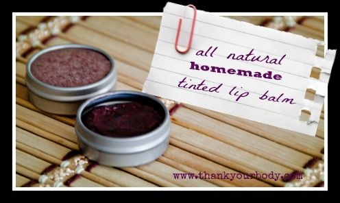 natural tinted lip balm    Ingredients:    2 Tbs coconut oil  2 Tbs jojoba oil (avocado, olive, or other similar oils would also work)  2 tsp grated cocoa butter  1 Tbs grated beeswax   1 tsp vitamin E  1/2 tsp essential oils* (optional, but so fun!)  1 – 2 tsp of Alkanet Root powder or Hibiscus powder (Like this)