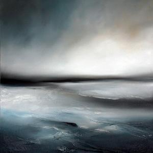 Paul Bennett – Seestück / Landschaft 2011, Aufstieg 1 – Öl auf Leinwand – 90cm X 90cm