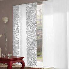 Panneau japonais tamisant motif zèbré dévoré blanc 45x260cm ARIGATO Madecostore