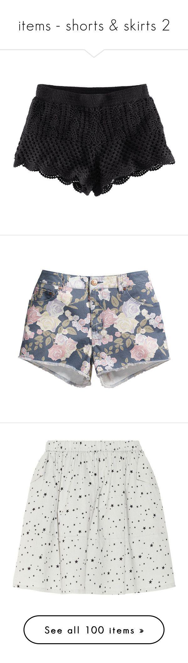 """items - shorts & skirts 2"" by breathtaking-batman ❤ liked on Polyvore featuring shorts, bottoms, short, black, crochet shorts, elastic waist shorts, h&m shorts, short shorts, black shorts and pants"