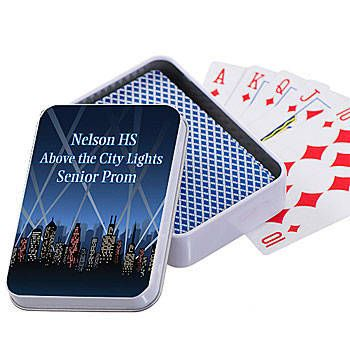 ***PERONALIZE AROUND THE WORLD. Bets are they'll love City Spotlights Playing Card Cases! Add your custom wording to the city spotlight card case for no extra charge.