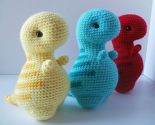 Crochet Patterns Free Doll Clothes : Timothy the T-Rex pattern by Kelsey Liggett