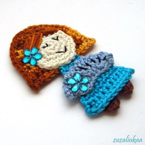 Aplique de Menina  em Crochê -   /   Apply to Girl  with Crochet -