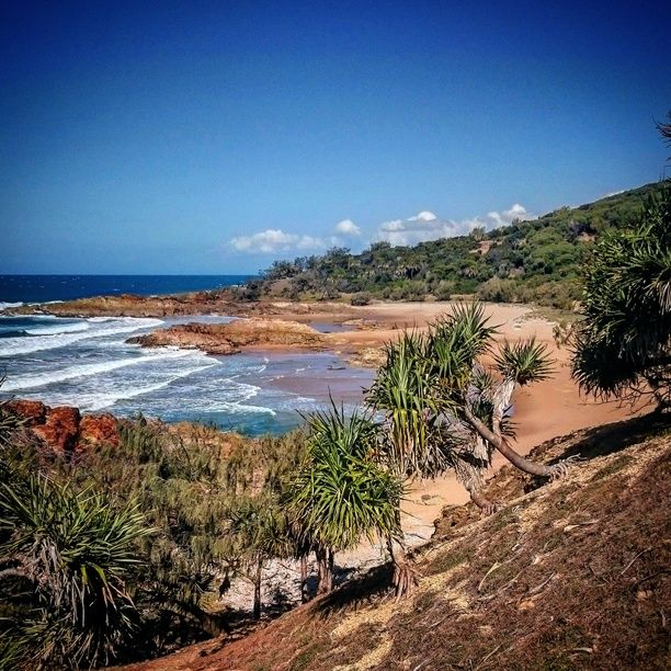 Red Rock walking trail, Agnes Water, Australia - 1km past workmans...
