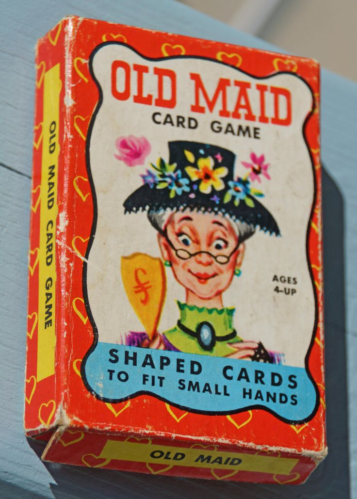Who's Got the Old Maid Vintage Card Game. $18.00, via Etsy. Mine had this very piacture on it. I hated get the old maid card.