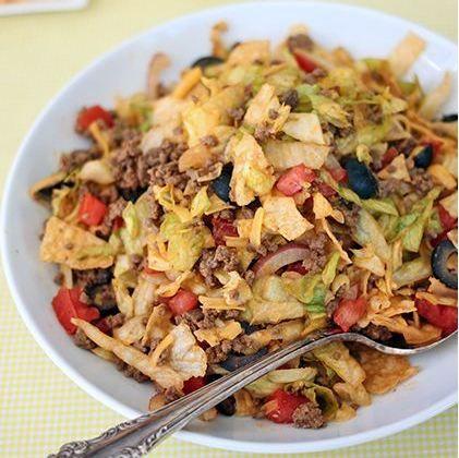 Chopped Taco Salad #Taco #Tacos #Mexican #Food
