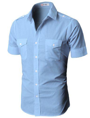 Mens Casual Short Sleeve Button Down Shirts Is Shirt