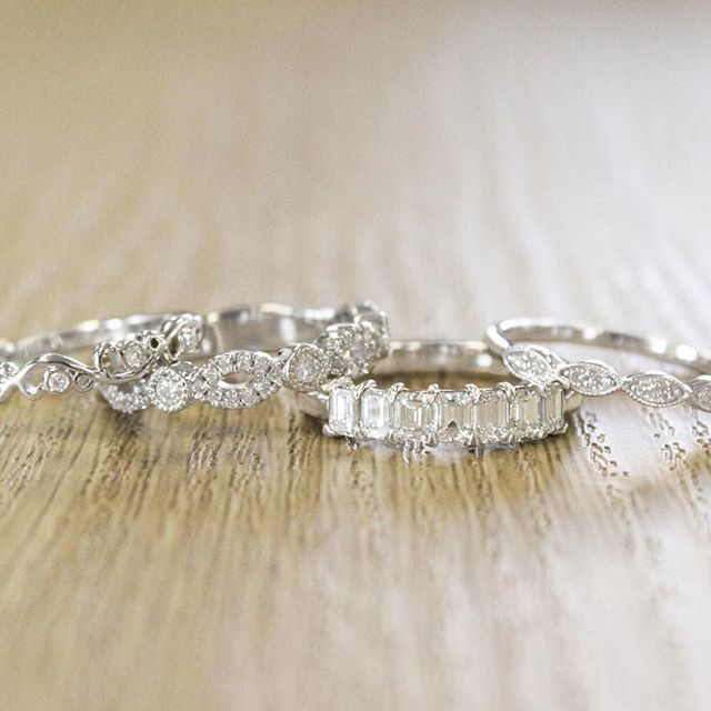 A diamond wedding band is a stunning symbol of commitment. #BrilliantEarth