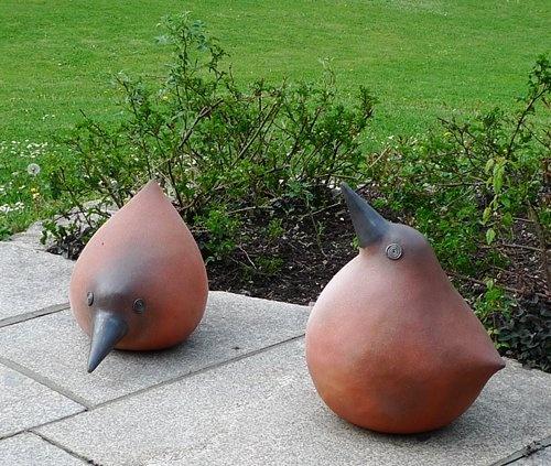 Kunst Vogel im Garten 2010