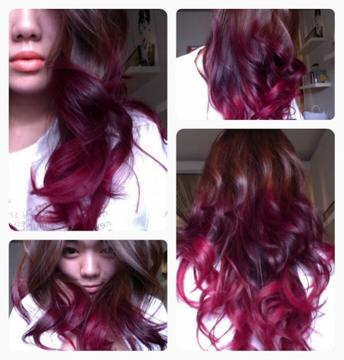 Brown n Red ombre hair color | Hair | Pinterest ...