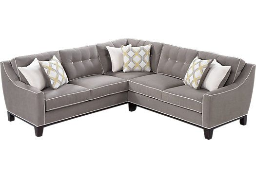 picture of Cindy Crawford Home State Street 2 Pc Mineral Sectional  from Sectionals Furniture
