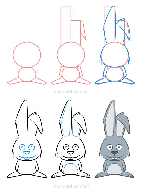 How to draw a rabbit - Comment dessiner un lapin