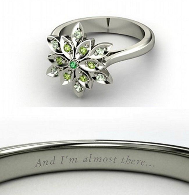 Princess Tiana from The Princess and the Frog Disney princess themed engagement ring