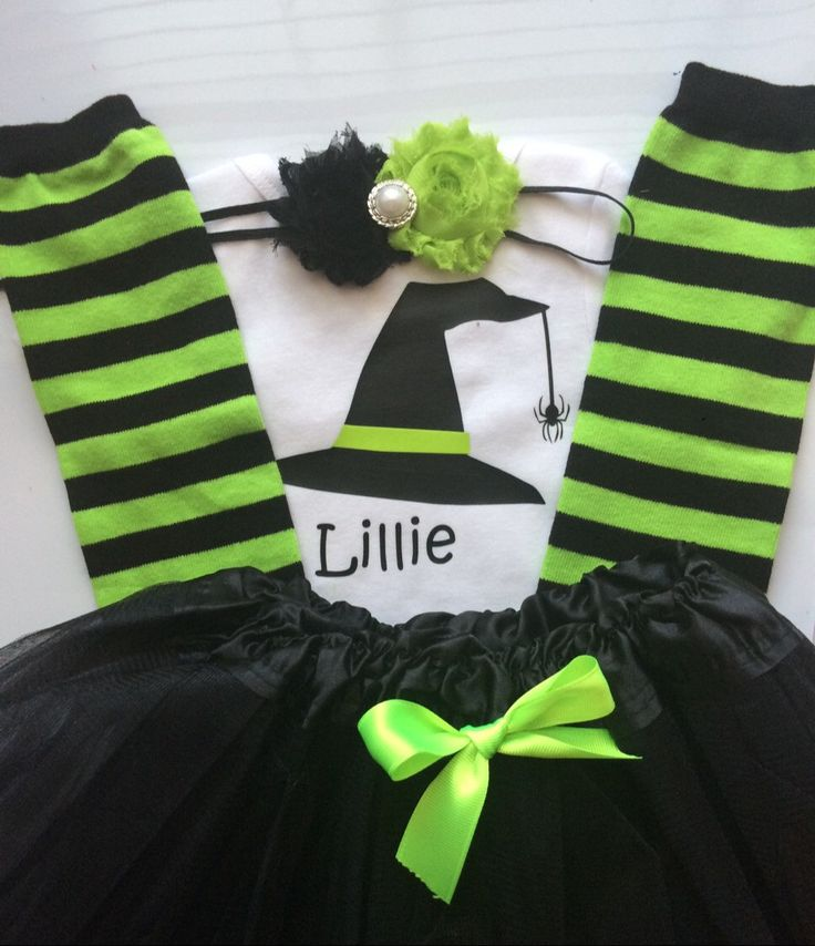 Toddler Girl Halloween Outfit- toddler tutu - Toddler Girl Fall outfit - Halloween costume - personalized baby outfit - Baby girl Halloween by AboutASprout on Etsy https://www.etsy.com/listing/197401321/toddler-girl-halloween-outfit-toddler