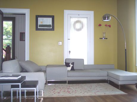 I Like The Gray On Hardwood With Tan Wall And White Trimmaybe A Little More Color Though