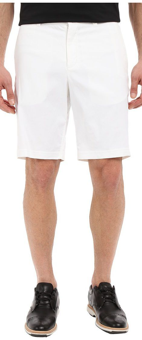Nike Golf Tiger Woods Practice Shorts 2.0 (White/Reflective Silver) Men's Shorts - Nike Golf, Tiger Woods Practice Shorts 2.0, 726226-100, Apparel Bottom Shorts, Shorts, Bottom, Apparel, Clothes Clothing, Gift - Outfit Ideas And Street Style 2017