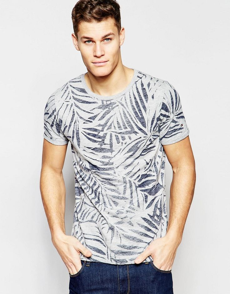 Image 1 of Tommy Hilfiger T-Shirt with Leaf Print
