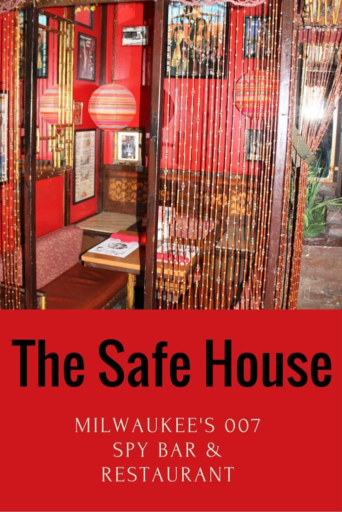 The most fun restaurant in downtown Milwaukee, Wisconsin is The Safe House. It's where 007's dine.