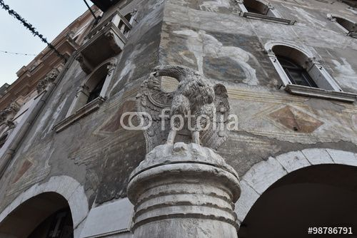 "Download the royalty-free photo ""Eagle fountain, Trento, Italy"" created by Ciaobucarest at the lowest price on Fotolia.com. Browse our cheap image bank online to find the perfect stock photo for your marketing projects!"