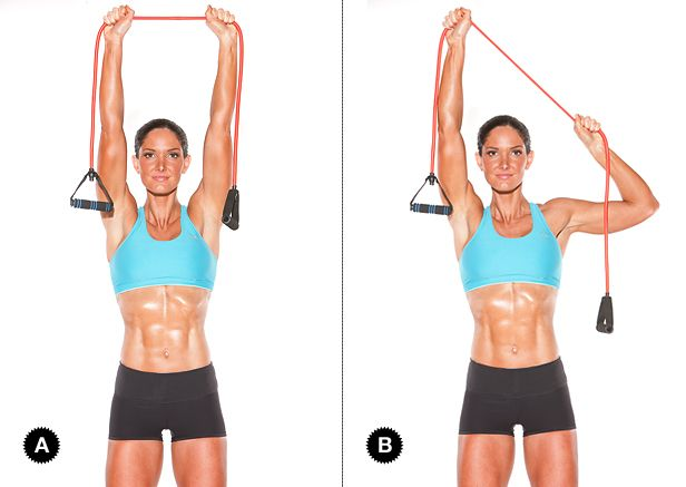 Lat pulldown: Do three sets of 15 reps (each side). Target Muscles: latissimus dorsi