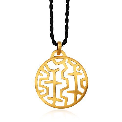 Entasis pendant in 18ΚΤ yellow gold