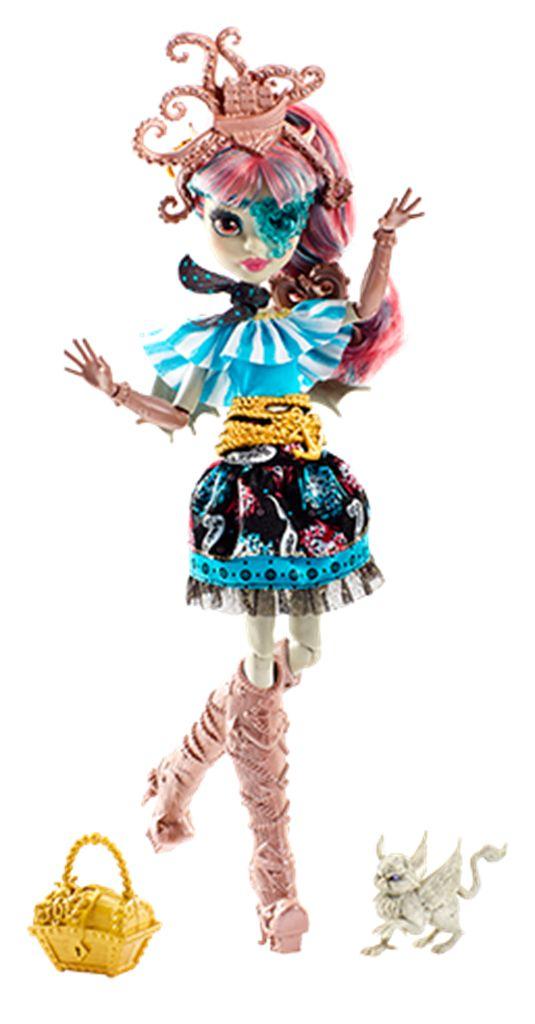 MONSTER HIGH Shriek Wrecked figur Rochelle Goyle MONSTER HIGH-figurLag bølger med din helt egen MONSTER HIGH-figur med et maritimt antrekk inspirert av de moteriktige monstrenes spennende eventyr i MONSTER HIGH-filmen, Shriek Wrecked!Hvert av monstrene er kledd i et antrekk som viser hvor de stammer fra, og de er alle kledd i et sjøfarerantrekk med et maritimt trykk, fantastiske frisyrer og detaljrikt tilbehør. Fra Rochelle Goyles pannebånd med et sjørøverskip sunket av en krake til…
