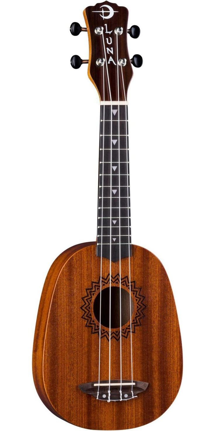 Luna Guitars Vintage Mahogany Pineapple Ukulele Satin Natural
