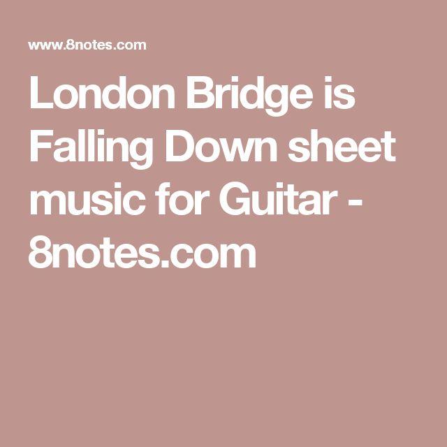 London Bridge is Falling Down sheet music for Guitar - 8notes.com