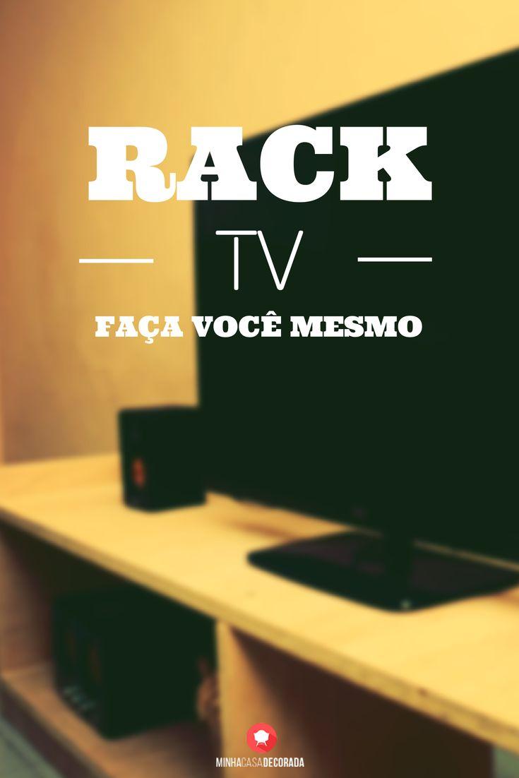 Faça Você Mesmo Rack de TV DIY #decoracao #blog #decor #homedecor #arquitetura #interiores #diy #facavocemesmo #projeto #rack #madeira #marcenaria