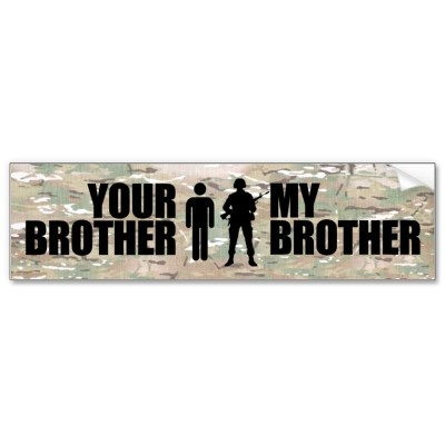 My Brother serves in the military Bumper Stickers