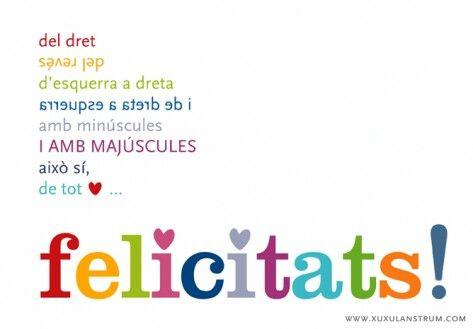 Mejores 86 im genes de felicidades en pinterest - Feliz cumpleanos en catalan ...