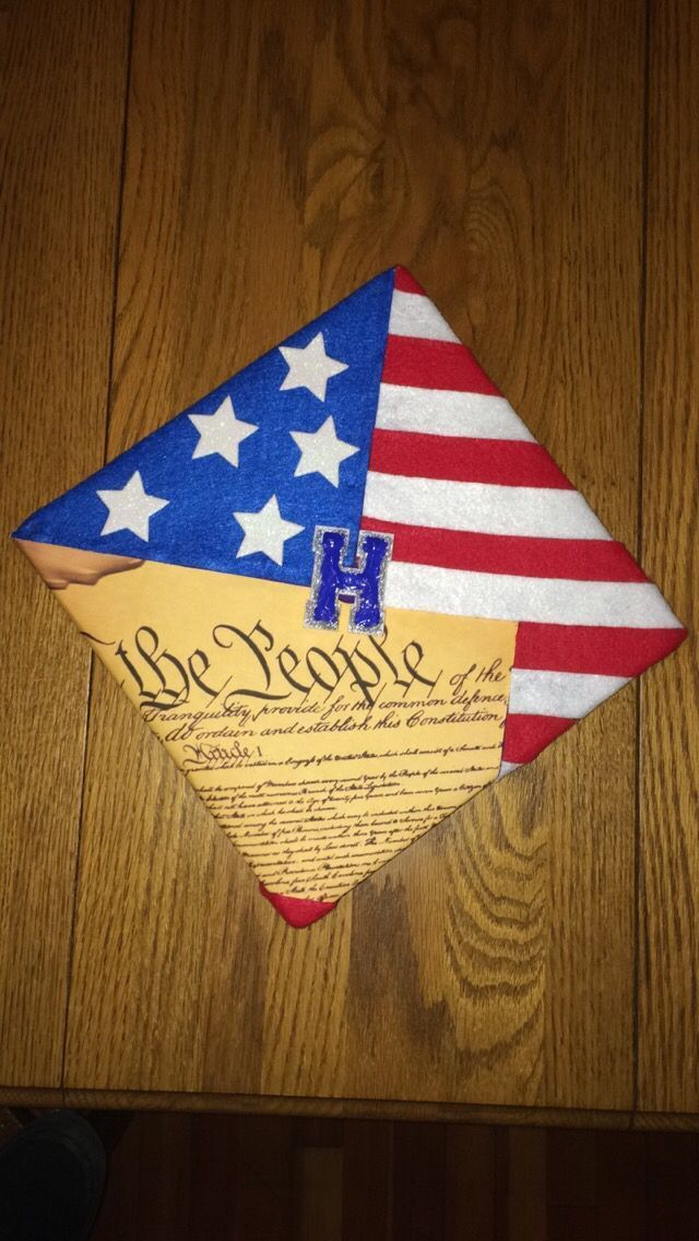 A true expression of American freedom! God bless! Class of 2015. Hillsdale College bound. America / Constitutional Graduation Cap! - #american #bless ...