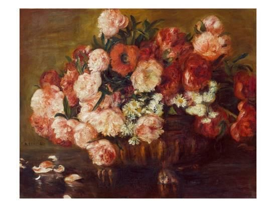 Still-Life with Peonies, 1872 Giclee Print by Pierre-Auguste Renoir at Art.com