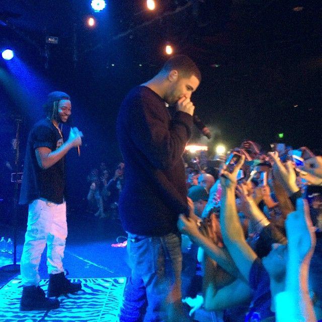 Drake Joins PARTYNEXTDOOR On Stage In LA (Video)
