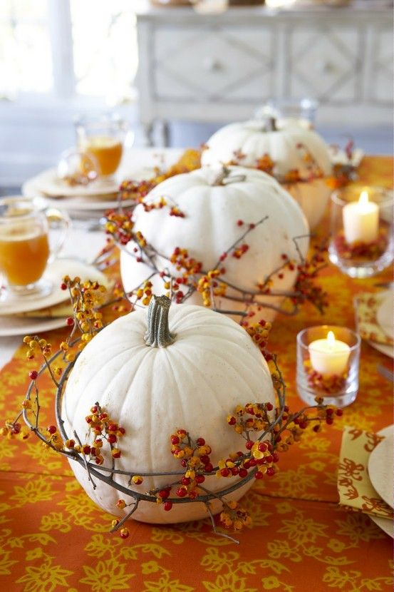 cute fall table idea  Homes to Luv