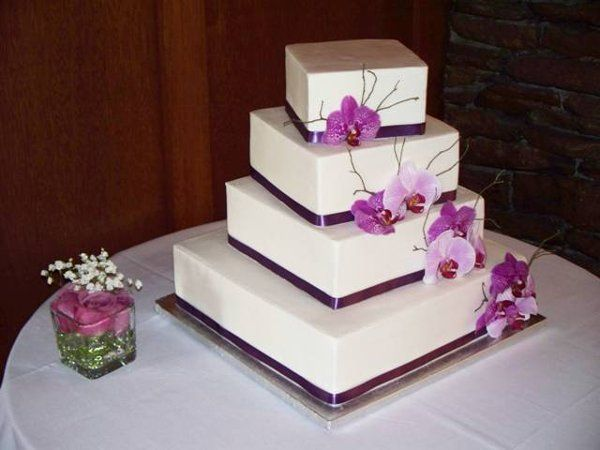 purple wedding cakes | Royal Icings - Westfield, MA Wedding Cake